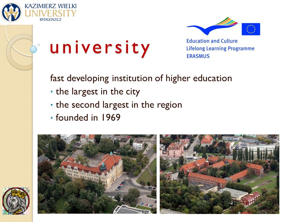 university fast developing institution of higher education the largest in the city the second largest in the region founded in 1969