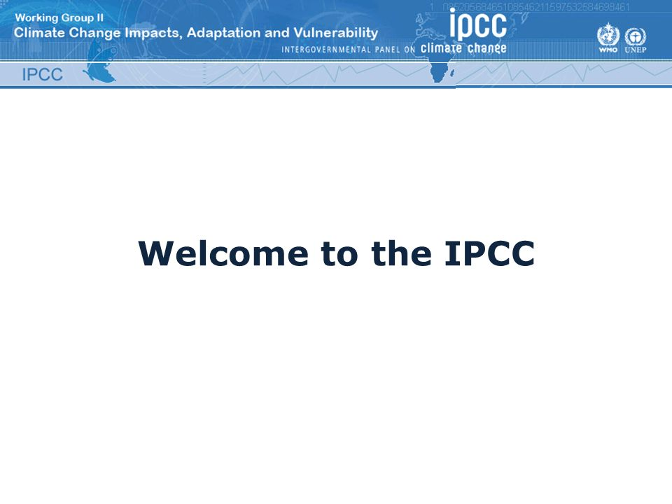 Welcome to the IPCC