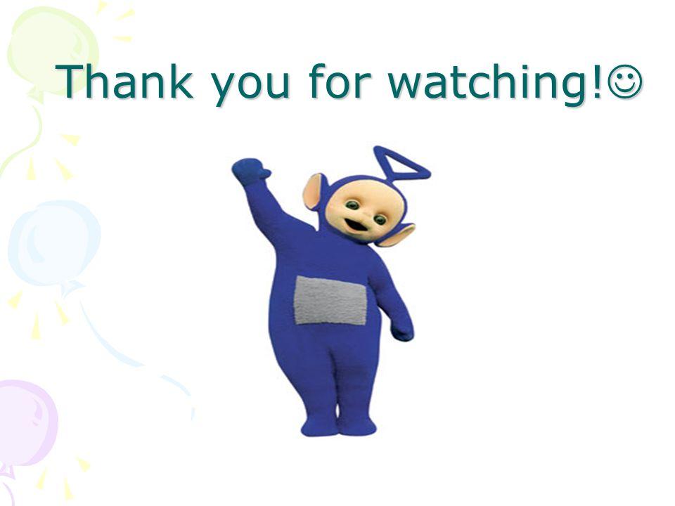 Thank you for watching! Thank you for watching!