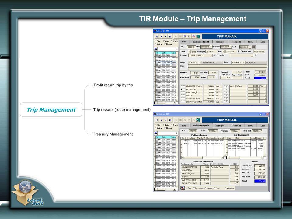 TIR Module – Trip Management