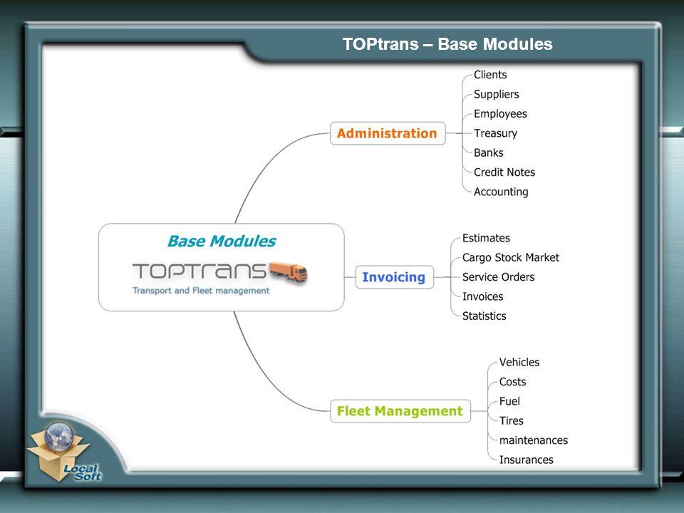 TOPtrans – Optional Modules