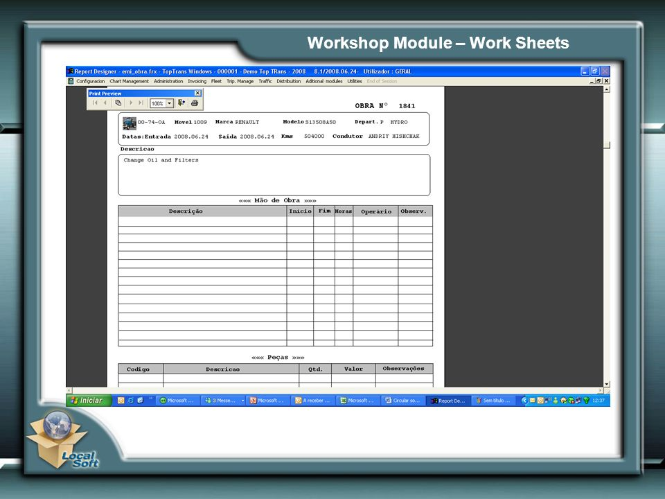 Workshop Module – Work Sheets
