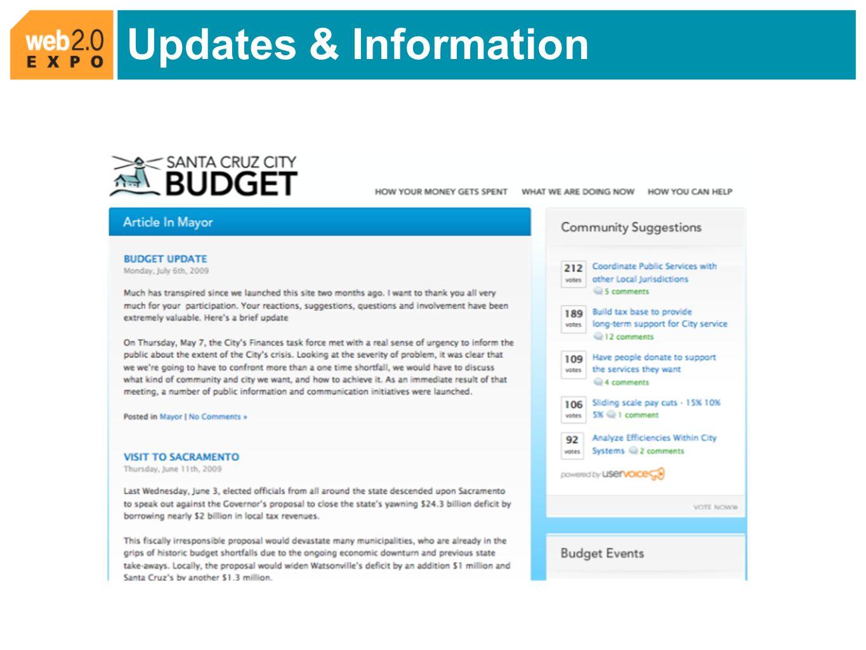 Updates & Information