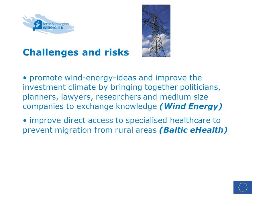 Challenges and risks promote wind-energy-ideas and improve the investment climate by bringing together politicians, planners, lawyers, researchers and