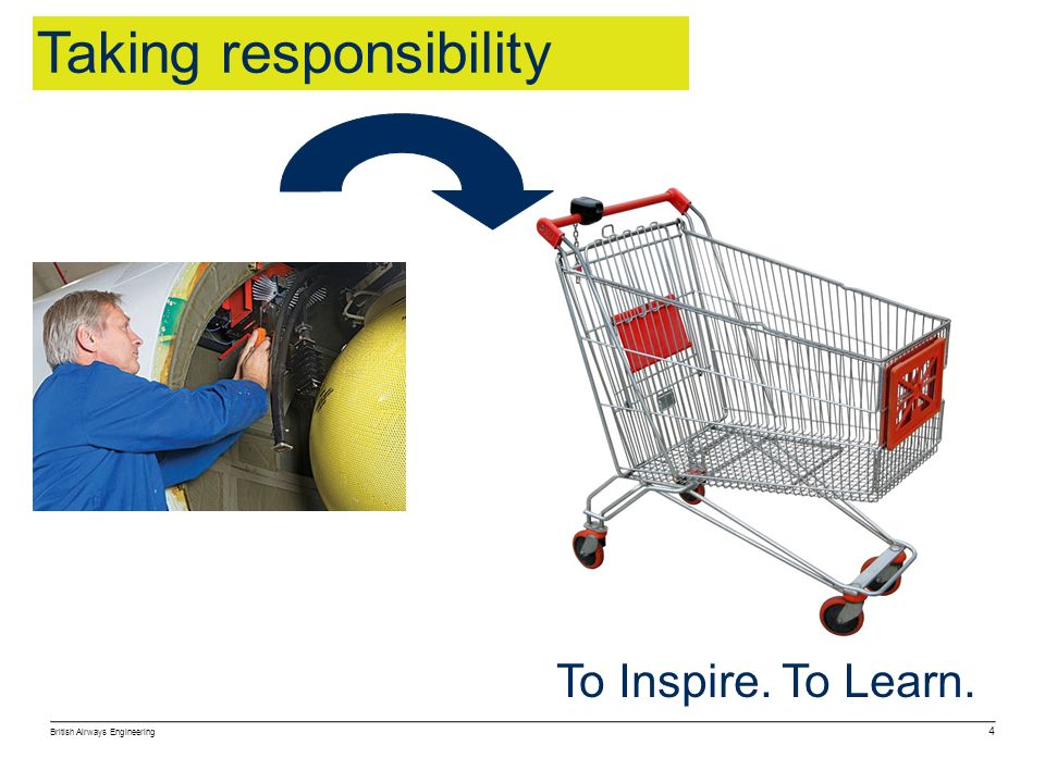 British Airways Engineering 4 To Inspire. To Learn. Taking responsibility