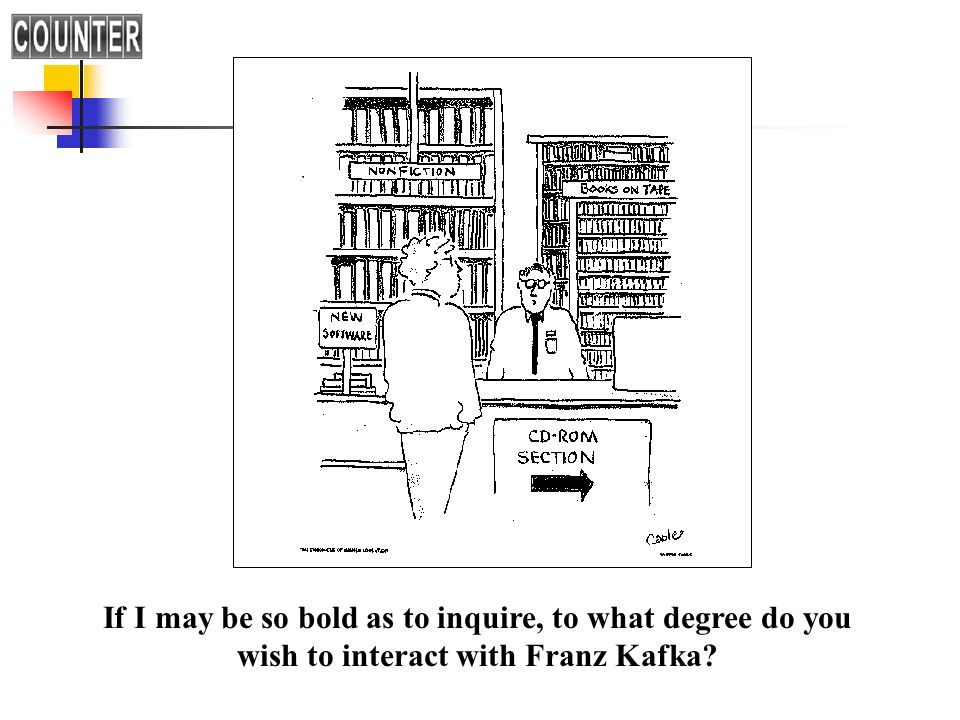 If I may be so bold as to inquire, to what degree do you wish to interact with Franz Kafka?