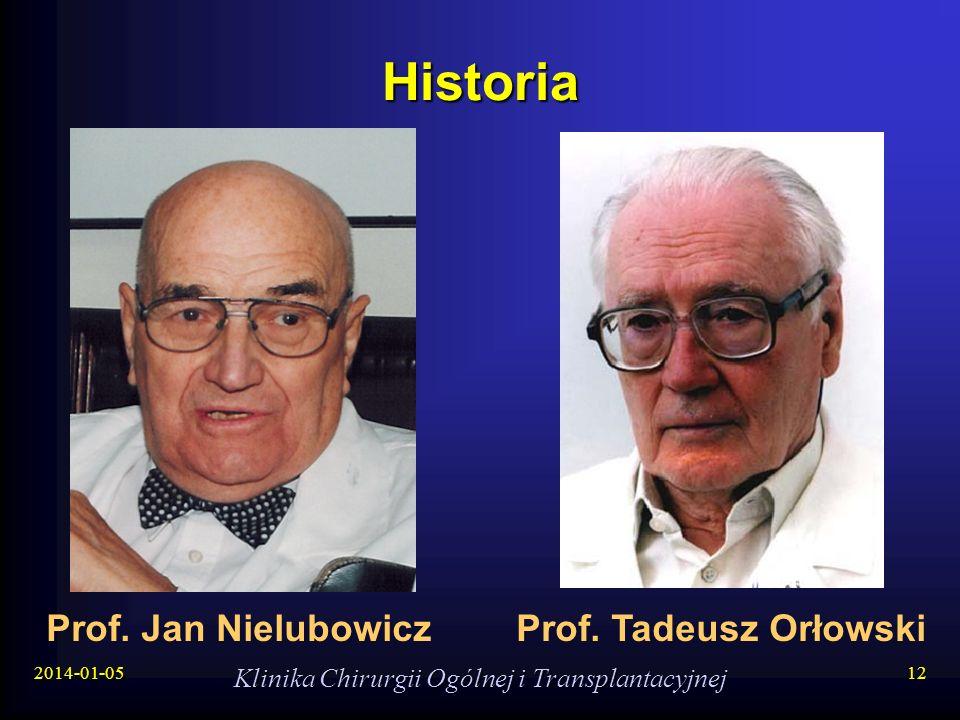 2014-01-05 Klinika Chirurgii Ogólnej i Transplantacyjnej 12 Historia Prof. Jan NielubowiczProf. Tadeusz Orłowski