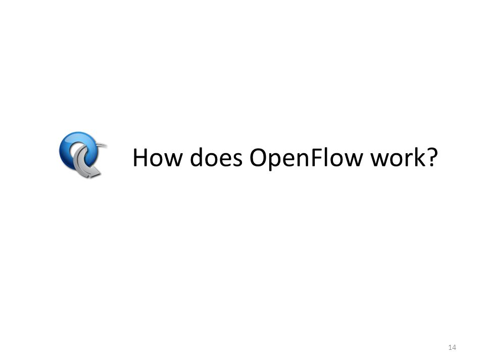 How does OpenFlow work? 14