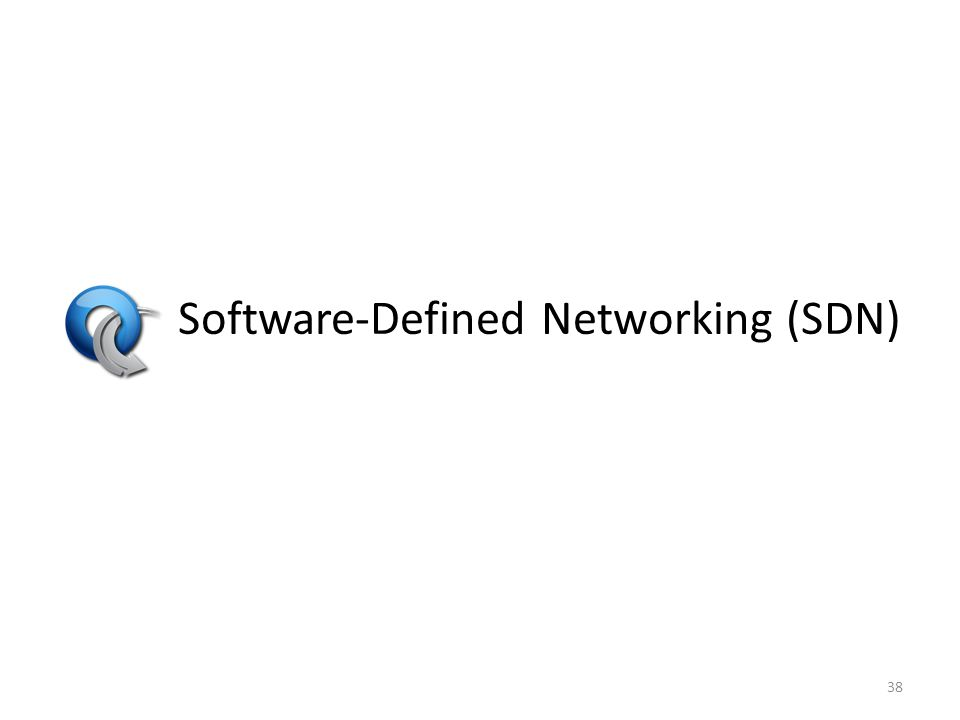 Software-Defined Networking (SDN) 38