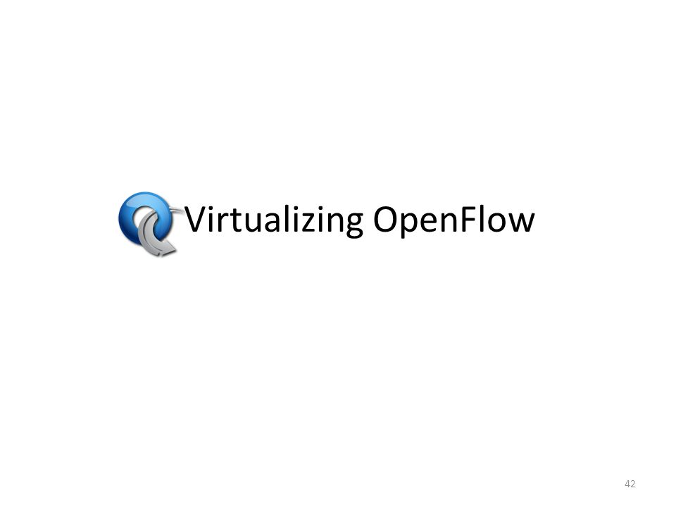 Virtualizing OpenFlow 42