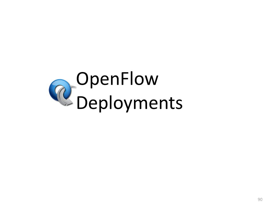 OpenFlow Deployments 90