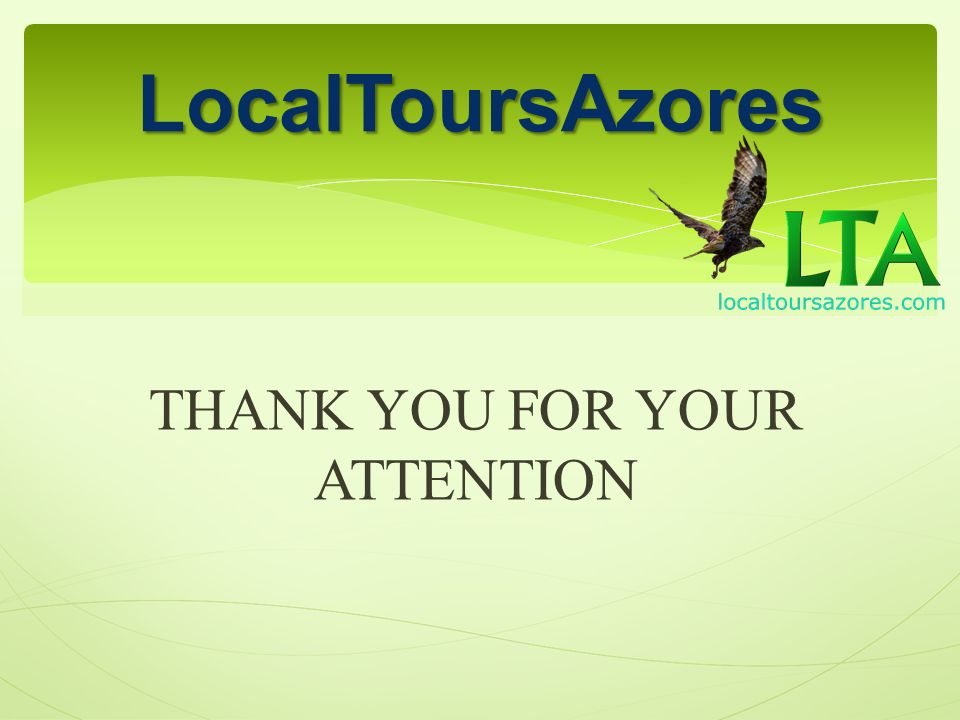THANK YOU FOR YOUR ATTENTION LocalToursAzores