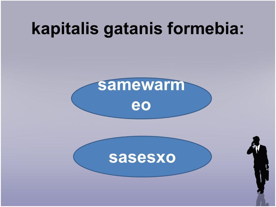 kapitalis gatanis formebia: samewarm eo sasesxo