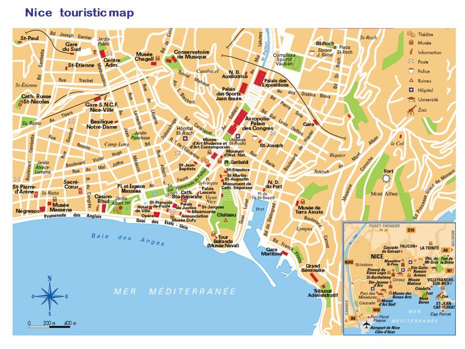 Nice touristic map