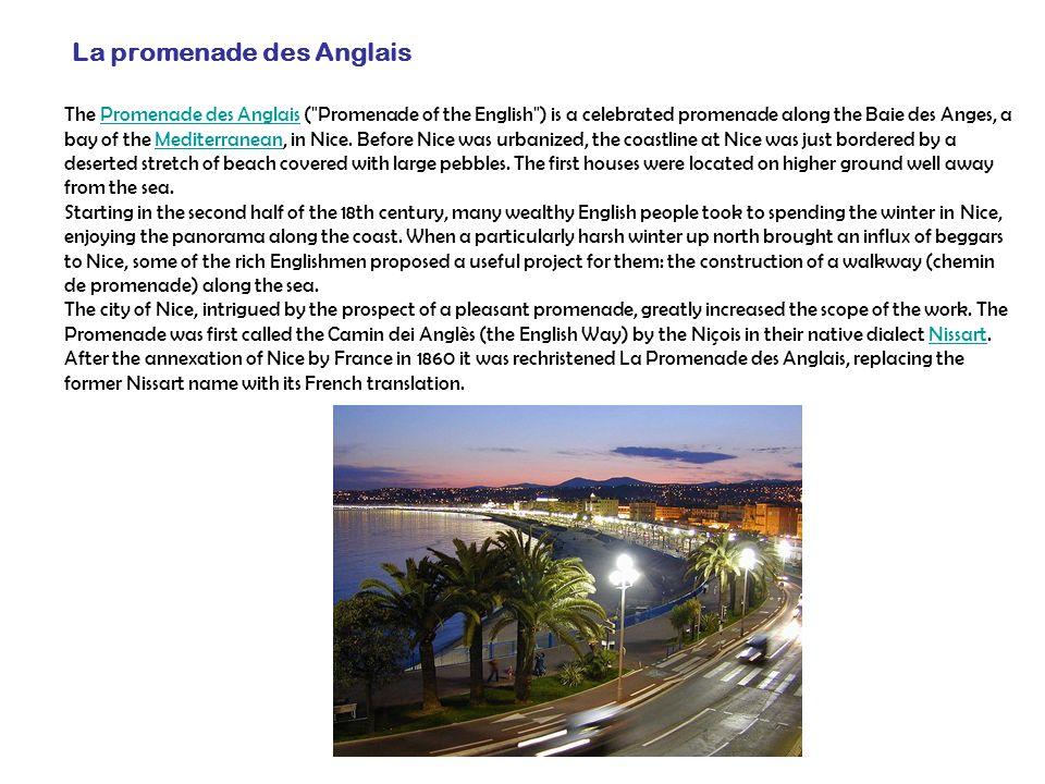 La promenade des Anglais The Promenade des Anglais (