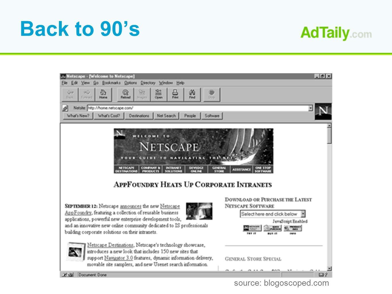 Back to 90s source: blogoscoped.com