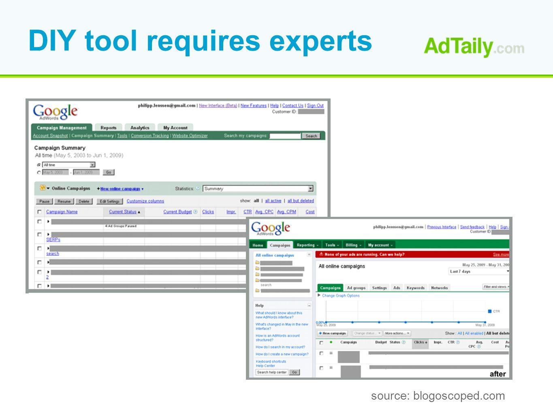 DIY tool requires experts source: blogoscoped.com