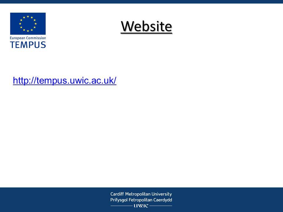 Website http://tempus.uwic.ac.uk/