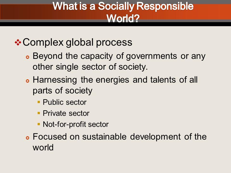 UN - Millennium Development Goals UN Global Compact (2000) Millennium Project (2005 Sachs Report) Global Principles for Social Responsibility for Associations & Non-Profits (2008) KON adopts principles (2009) The Context for Associations & Social Responsibility Conclave 2009