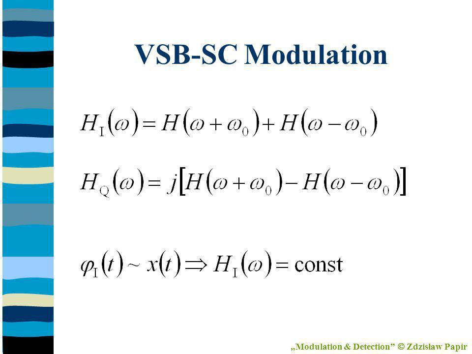 VSB-SC Modulation Modulation & Detection Zdzisław Papir