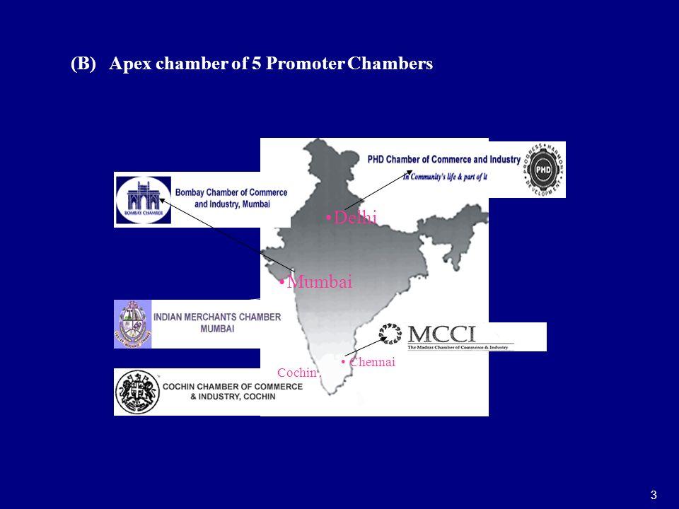 (B) Apex chamber of 5 Promoter Chambers 3 Delhi Chennai Cochin. Mumbai