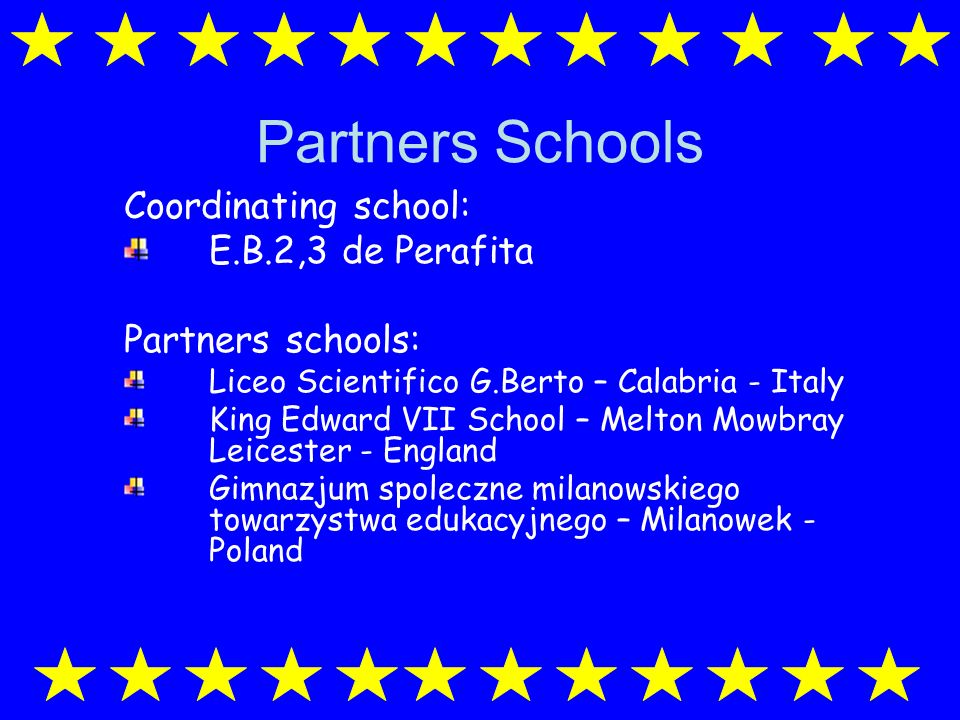 Comenius 1 SSS- School Self-evaluation Project Portugal England PolandItaly