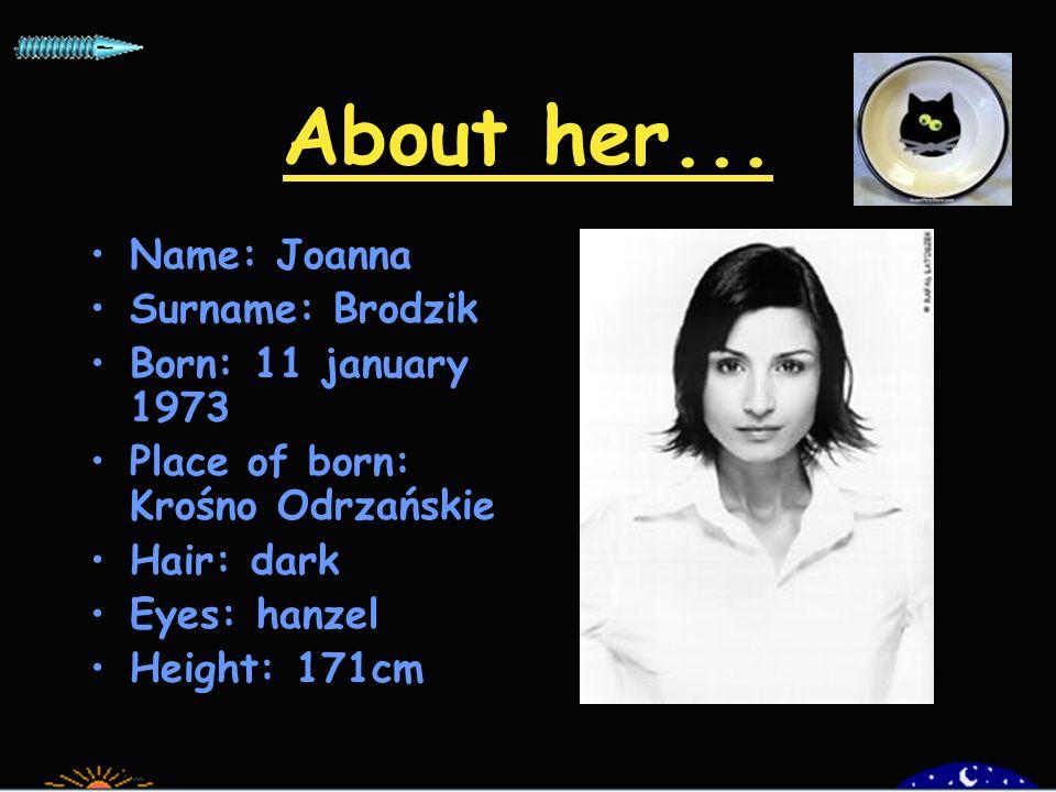 Joanna Brodzik Actress