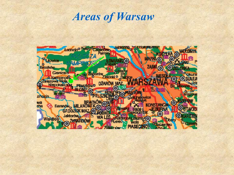 Żelazowa Wola is located about 54 km away from Warsaw.