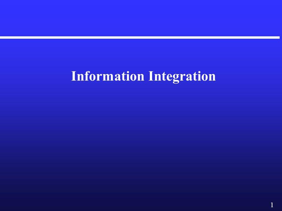 1 Information Integration