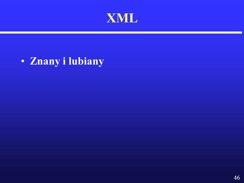 46 XML Znany i lubiany
