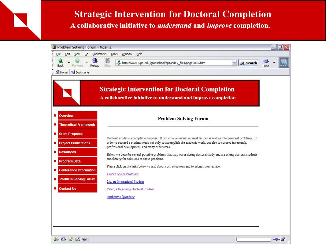 Strategic Intervention for Doctoral Completion A collaborative initiative to understand and improve completion.