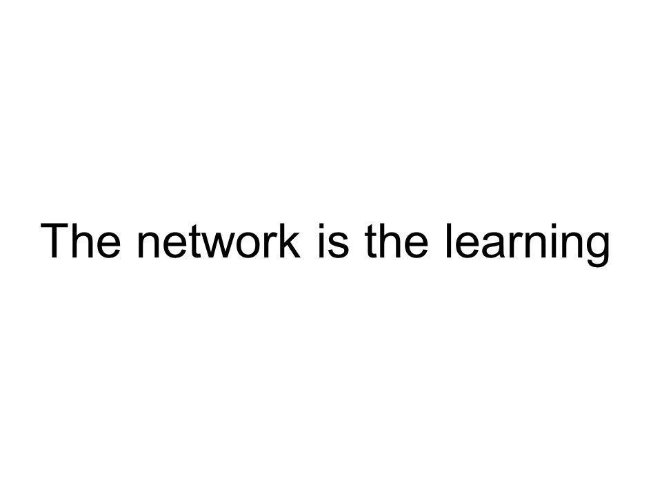 The network is the learning