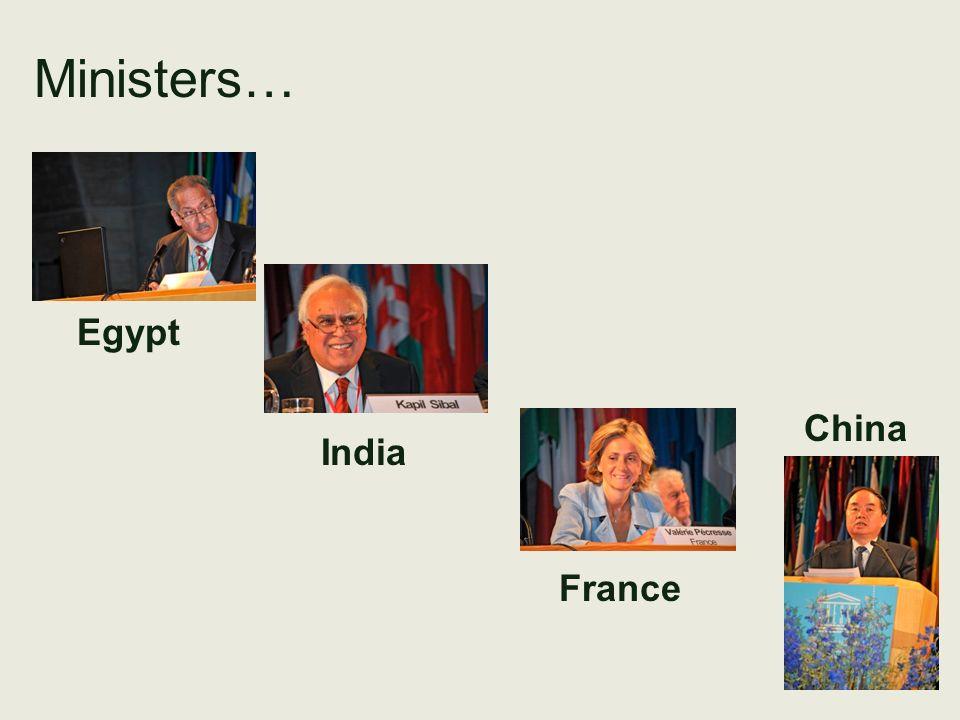 Ministers… Egypt India France China