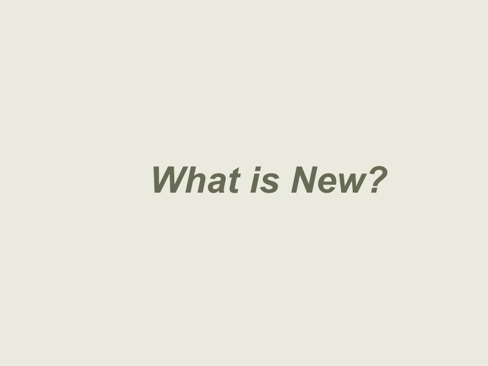 UNESCO What is New?