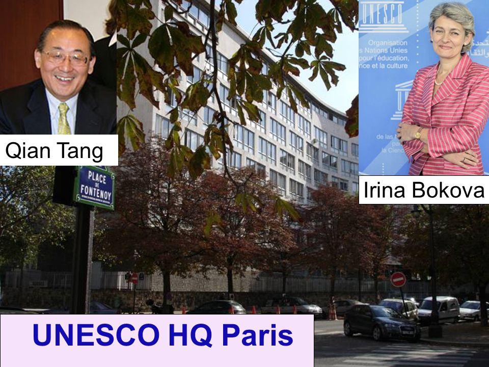 UNESCO HQ Paris Irina Bokova Qian Tang