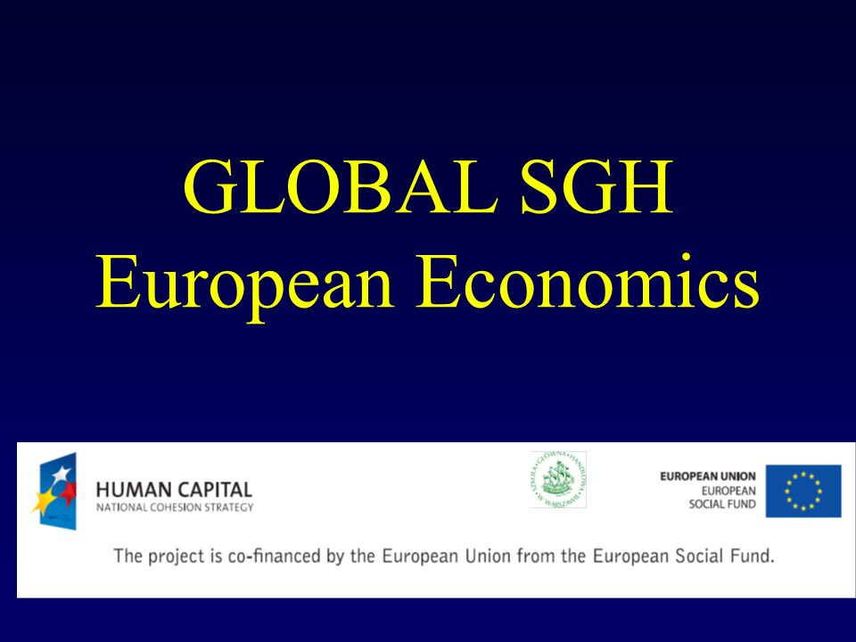 GLOBAL SGH European Economics
