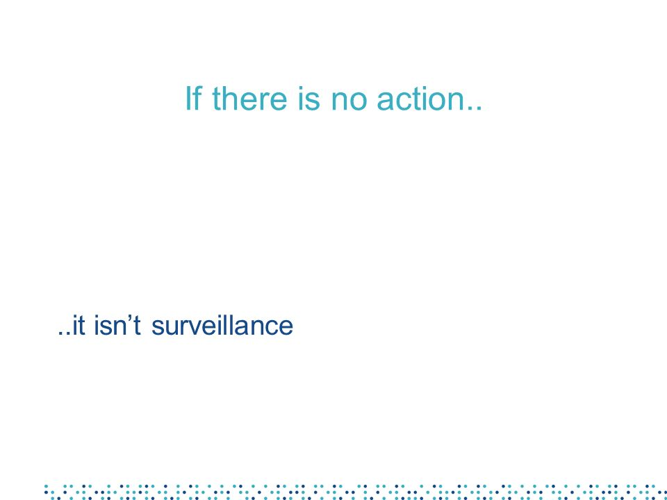 If there is no action....it isnt surveillance