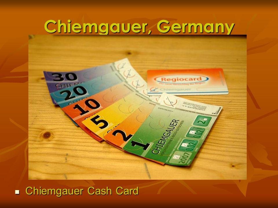 Chiemgauer, Germany Chiemgauer Cash Card Chiemgauer Cash Card