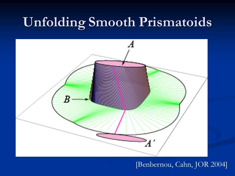 Unfolding Smooth Prismatoids [Benbernou, Cahn, JOR 2004]