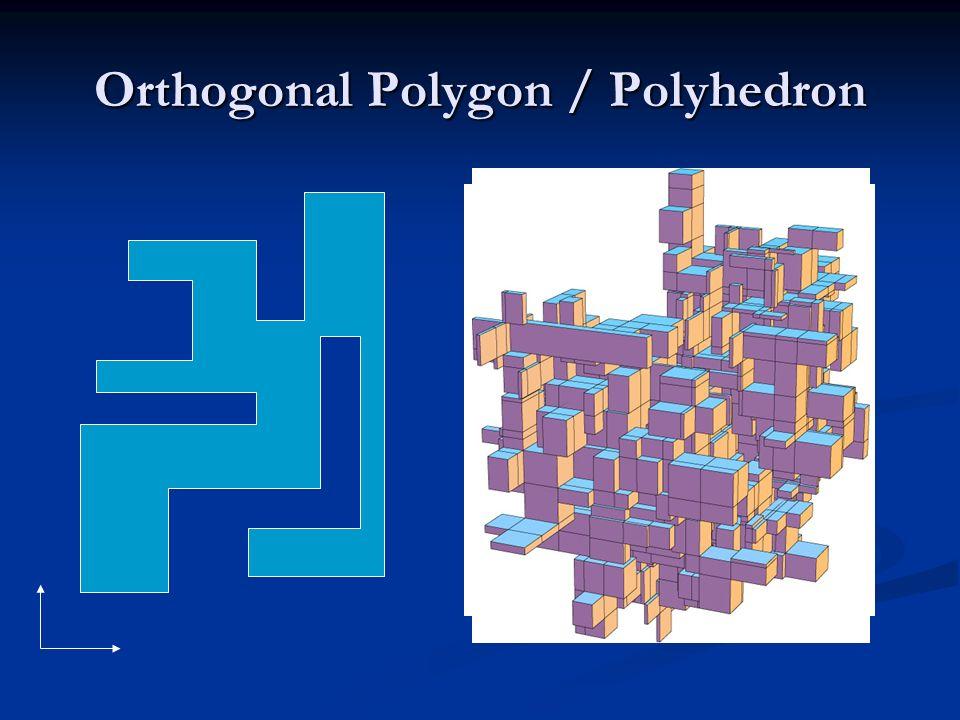Orthogonal Polygon / Polyhedron