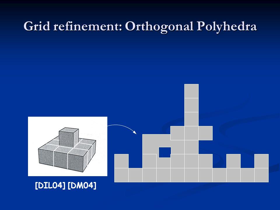 Grid refinement: Orthogonal Polyhedra [DIL04] [DM04]