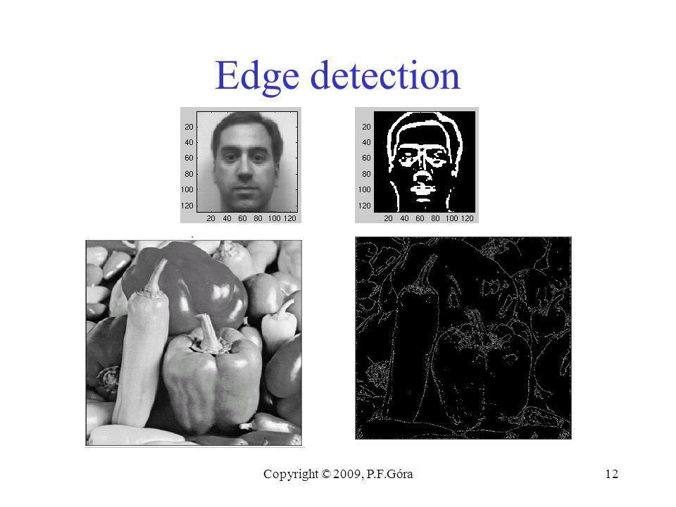 Copyright © 2009, P.F.Góra12 Edge detection