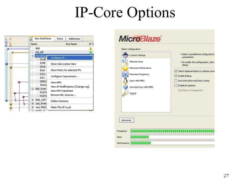 27 IP-Core Options