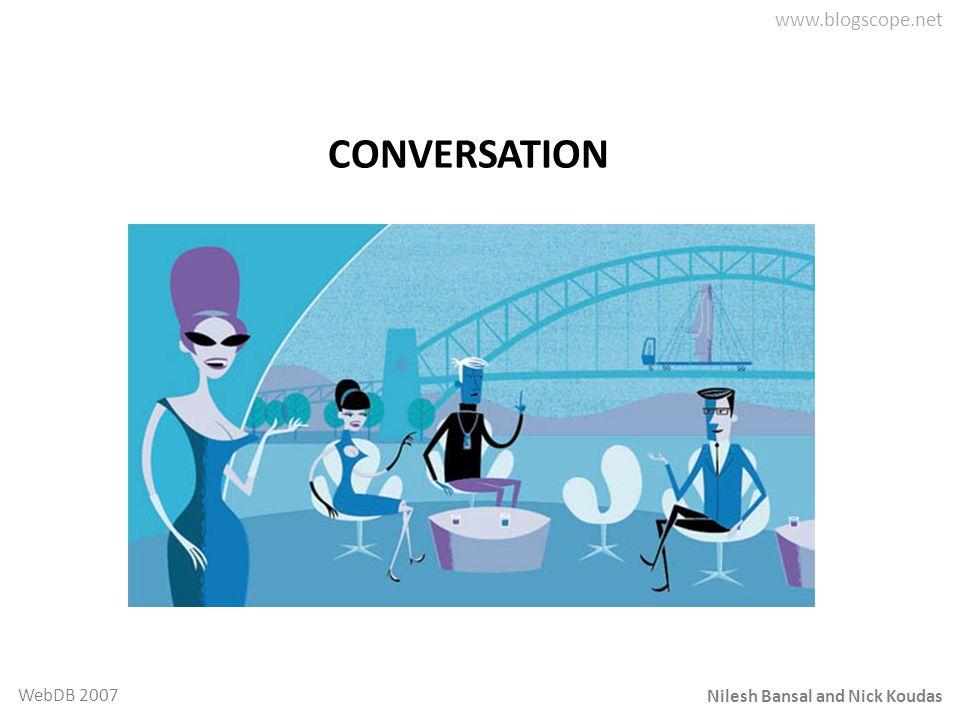 Nilesh Bansal and Nick Koudas WebDB 2007 CONVERSATION
