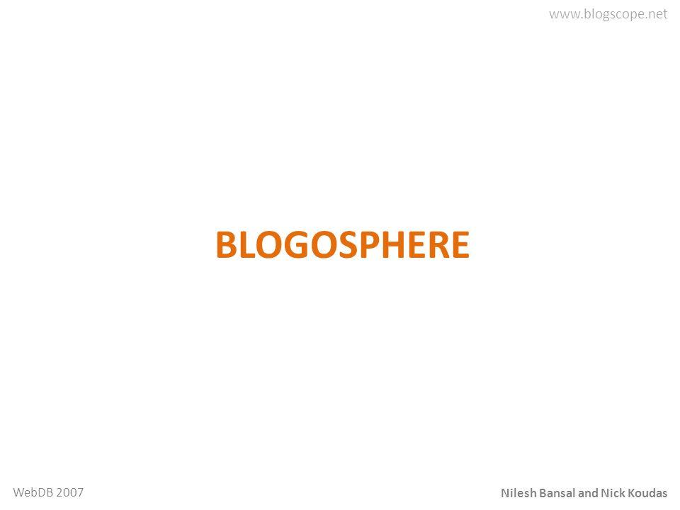 Nilesh Bansal and Nick Koudas WebDB 2007 BLOGOSPHERE