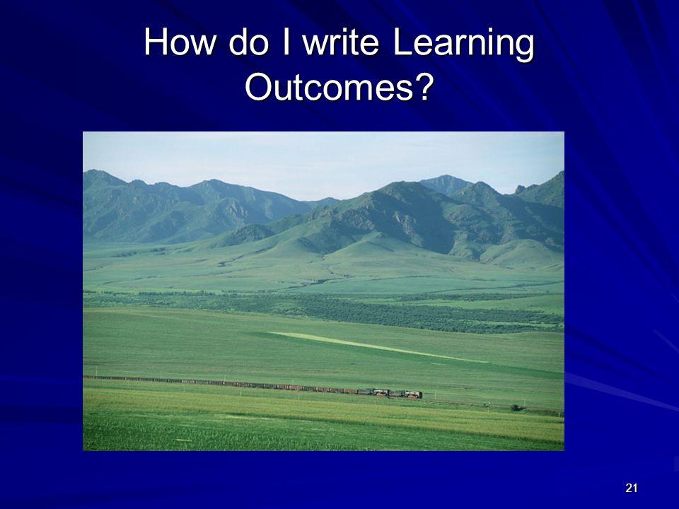 2121 How do I write Learning Outcomes?