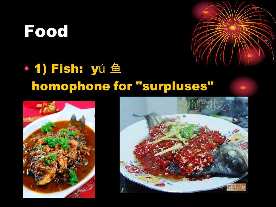 Food 1) Fish: y ú homophone for