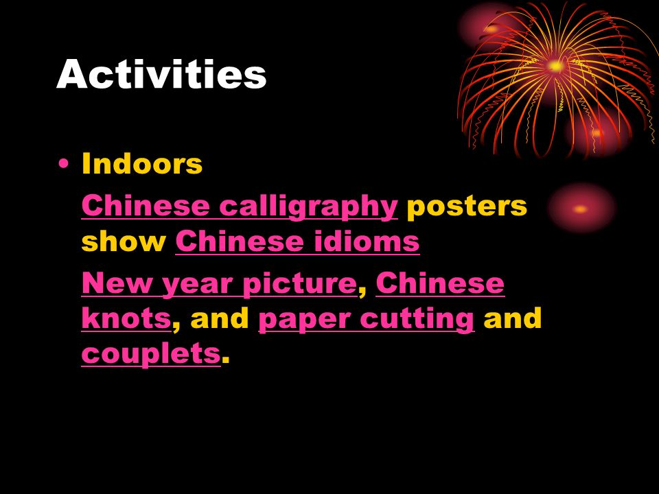Activities Indoors Chinese calligraphyChinese calligraphy posters show Chinese idiomsChinese idioms New year pictureNew year picture, Chinese knots, a