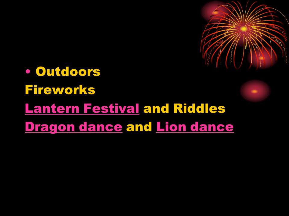 Outdoors Fireworks Lantern FestivalLantern Festival and Riddles Dragon danceDragon dance and Lion danceLion dance