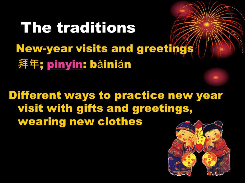 Let s practice it Greetings: 1.Happy new year: Xīnni á n ku à il è guònian h ǎ o 2.